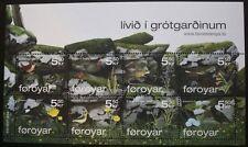 Wildlife stamp sheet, Faroe Islands, 2007, 8 stamp set, MNH