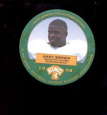 1994 King B GARY BROWN Houston Oilers Rare Disc Card Mint