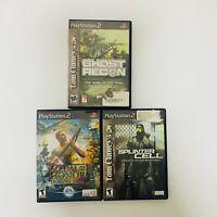 Ghost Recon - Medal Of Honor Rising Sun - Splinter Cell - PLAYSTATION 2 PS2 Lot