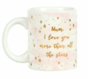 Scattered Stars Mum I Love You More Mug Rose Gold Pink Gift Box