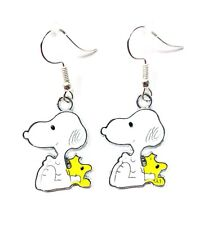Peanuts Inspired SNOOPY and WOODSTOCK BUDDIES Dangle Earrings Ships Fast GIFT