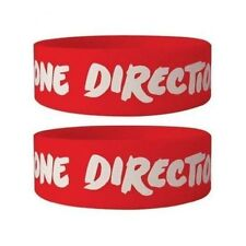Official One Direction - Logo - Red Rubber Gummy Wristband