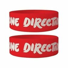 UFFICIALE One Direction-LOGO-Red Rubber Gummy Braccialetto