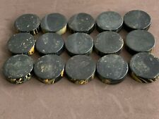15 31mm  Marbleized Black Bakelite Backgammon Checkers