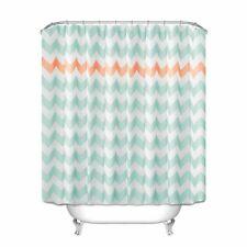 Geometric Pattern Shower Curtain Waterproof Bathroom Home Decor Polyester Fabric