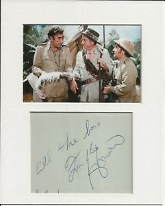 Frankie Howerd carry on up the jungle signed genuine authentic autograph AFTAL