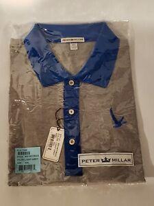 Peter Millar Grey Goose Light Grey Polo Golf Shirt, Size XXL, NEW WITH TAGS!