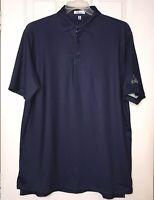 PETER MILLAR Men's Polo Golf Shirt Blue Short Sleeve Size Large