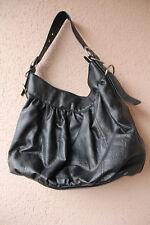 Große, schwarze Tasche/Beutel mit abnehmbarem Gurt von Yessica/C&A, ca45x32x17cm