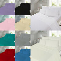 Thermal Flannelette 100% Soft Brushed Cotton Flat Bed Sheet & Pillow Cases