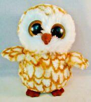 TY Beanie Boo Owl Swoops Plush Stuffed Animal Sparkle Glitter Eyes 2013
