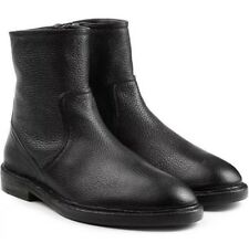 Burberry 7481 Mens Black Leather Ankle Boots Size 43 EU