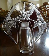Lalique France Hirondelles Perfume Bottle Original Box Pristine Looks Unused