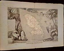 Carte géographique Colonies Françaises Martinique - Amérique du sud -