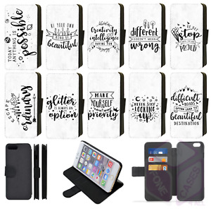 INSPIRATIONAL QUOTES iPhone Pastel Grey Marble effect Wallet Flip Phone Case