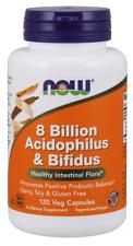 8 Billion Acidophilus & Bifidus - 120 Veg Capsules by NOW Foods *Free Shipping*