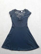WORN ONCE H&M Black Fitted Short Sleeved Mini Dress Size XS