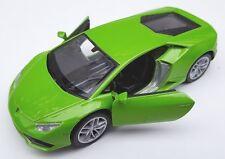 Spedizione LAMPO Lamborghini Huracan LP 610-4 VERDE Welly Modello Auto 1:34 NUOVO & OVP