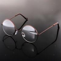Vintage Brille Metallrahmen Klare Linse Runden Kreis Augenbrille Universal