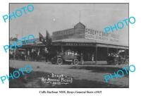 OLD 6 x 4 PHOTO COFFS HARBOUR NSW BRAYS GENERAL STORE c1915