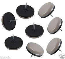 "8pcs Heavy Duty 1-1/8"" Slide Glide Nail-On Furniture Sliders Hardwood Scratch"