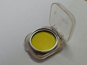 Genuine Yellow 1 E39 LEICA LEITZ Wetzlar 39mm Filter, Chrome HOOBE