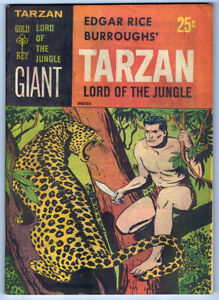 TARZAN LORD OF THE JUNGLE #1 in VF+ a 1965 GOLD KEY Giant comic by Burroughs