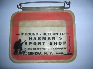 Vintage Antique Harman's Sport Shop Geneva NY Hunting Tag Holder