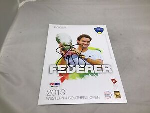 Roger Federer Signed 2013 W&S 5x7 Player Card Autographed PSA/DNA COA 1A