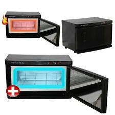 2 in 1 Black Hot Towel Warmer Cabinet UV Sterilizer Spa Beauty Salon Equipment