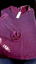 """^NWT!   $228 DIESEL  """"GERTRUDE-D"""" WOMENS S/S TANK TOP SHIRT BORDEAUX RED SMALL"""
