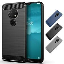 32nd Serie Carbonio - Custodia Antiurto Slim Armor Cover per Nokia 7.2 (2019)