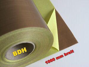 PTFE Glasgewebe Klebefolie Anti-Haft B=1000 mm 0.13 Folie Teflon® selbstklebend