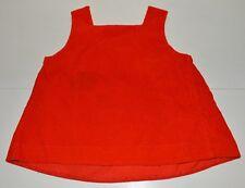 Vêtement enfant ancienne robe velours rouge fille vintage 70'S
