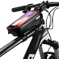 Cycling Bike Bicycle Frame Pannier Waterproof Front Tube Pouch Mobile Phone Bags