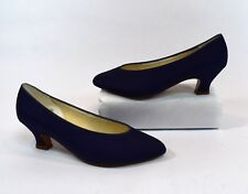 Michaelangelo Vintage 80s Blue Canvas Pump Heels Size 6.5M