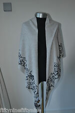 CASHMERE MOUNTAIN FORCE NEW GREY Scarf / Shawl/Cape/Wrap NEW AUTHENTIC
