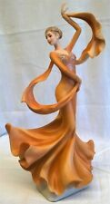 JULIANA BALLROOM DANCER PRETTY LADY FIGURE MODEL - KATYA - ORANGE DRESS 60444