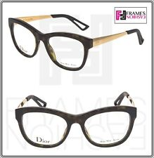 b75af2427928 CHRISTIAN DIOR CD3288 Gold Tortoise Square 52mm RX Optical Eyeglasses  Authentic