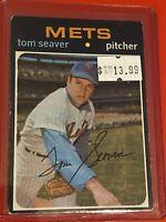 VINTAGE 1971 Topps Baseball Card Set #160 HOF NEW YORK METS - Tom Seaver