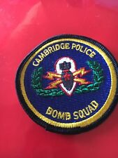 Cambridge Mass. Police patch Bomb Squad