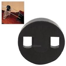 New 35 x 35mm Acoustic Cello Durable Round Circular Rubber Design Mute Silencer