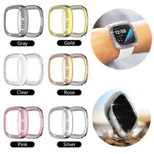 Screen Protector Shockproof PC Hard Cover for Fitbit versa3 Luxury Diamond Case