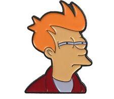 Metal Enamel Pin Futurama Meme Fry Character