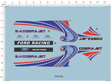Red 1/24 REVELL GT500 TG500KR cobra jet ford racing Car Model Kit Water Decal