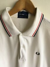 FRED PERRY MENS XXL 2XL 44-46 SHORT SLEEVED CLEAN WHITE CLASSIC  POLO T SHIRT