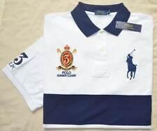 New 3XLT 3XL TALL POLO RALPH LAUREN Mens Big Pony rugby shirt White navy 3XT top