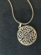 Necklace & Pendant Sterling Silver 925 Celtic Endless Knot