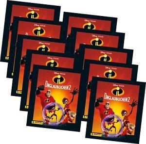 Panini - Die Unglaublichen 2 - Serie 2 - Sammelsticker - 50 Sticker - 10 Tüten