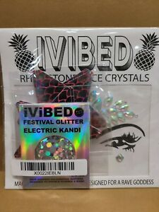 Rhinestone Face Crystals Kandi Pasties Holographic Glitter Ivibed Rave Party